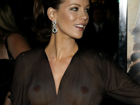 Kate Beckinsale is one of those celebrities that has jumped on the see through clothing band wagon.